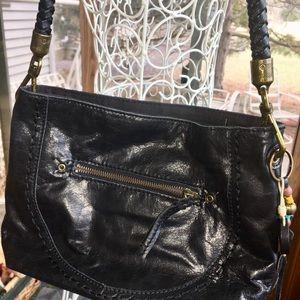 Nice soft leather Sak brand hobo handbag